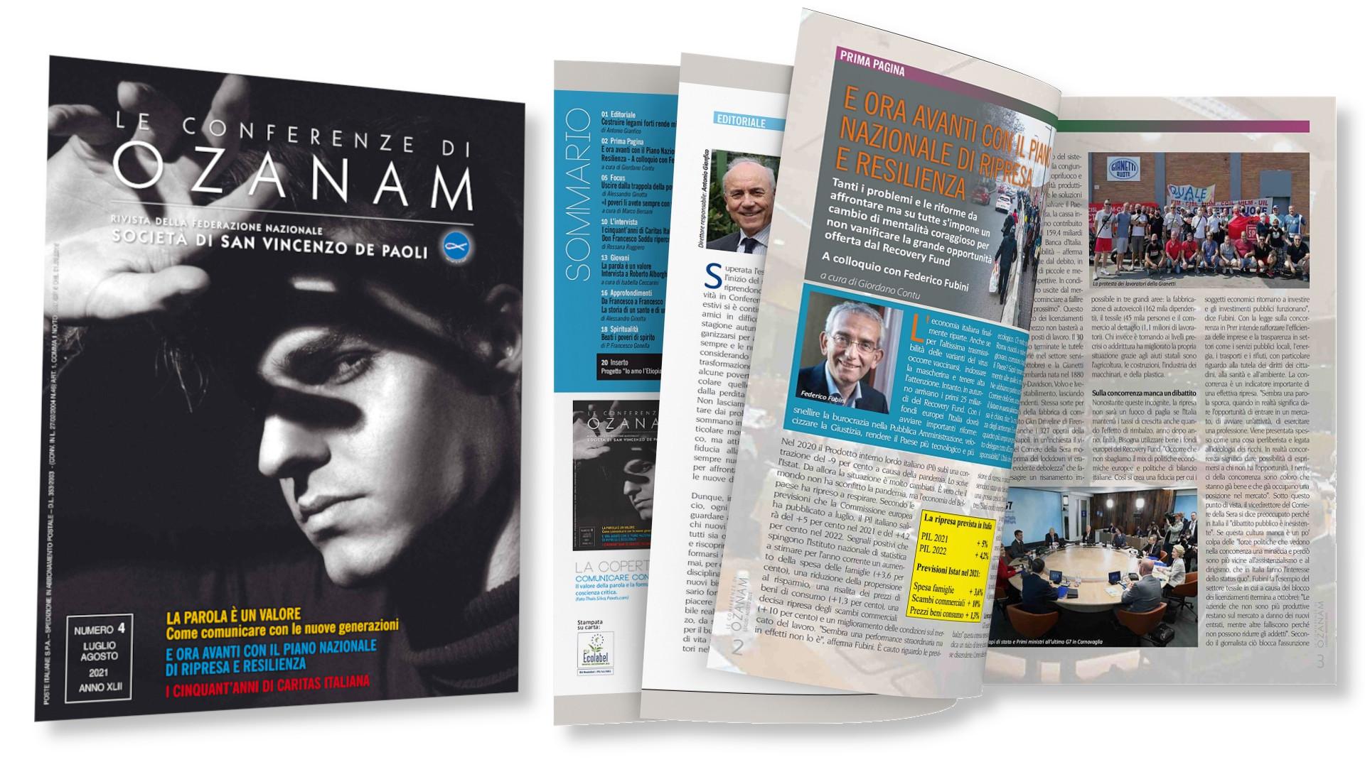 """Rivista """"Le conferenze di Ozanam"""" - n. 4 - luglio - agosto 2021"""