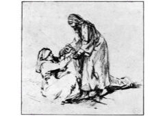 H.von R. Rembrandt, Guarigione della suocera di Pietro, 1650-60, Amsterdam